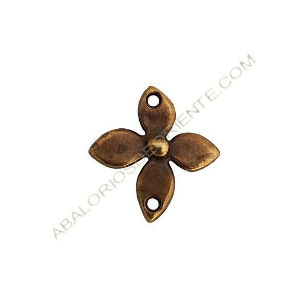 Colgante aleación de Zinc flor 26 x 25 mm bronce