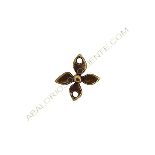 Colgante aleación de Zinc flor 19 x 18 mm bronce