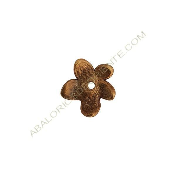 Colgante aleación de Zinc flor 20 x 19 mm bronce