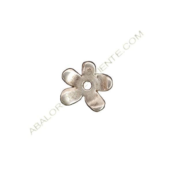 Colgante de aleación de Zinc flor 12 x 13 mm plateada