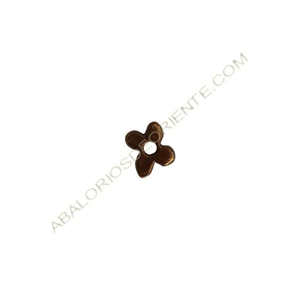 Colgante de aleación de Zinc flor 9 x 11 mm bronce