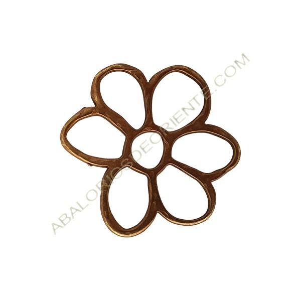 Colgante aleación de Zinc flor 35 x 40 mm bronce