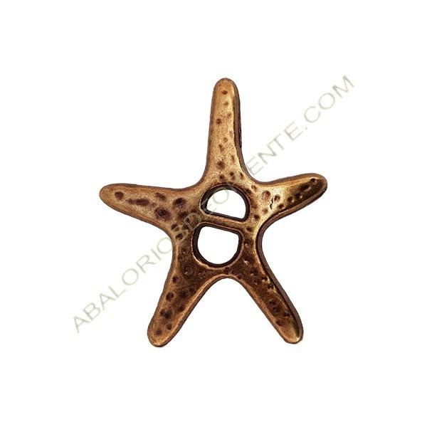 Colgante aleación de Zinc estrella de mar 45 x 37 mm bronce