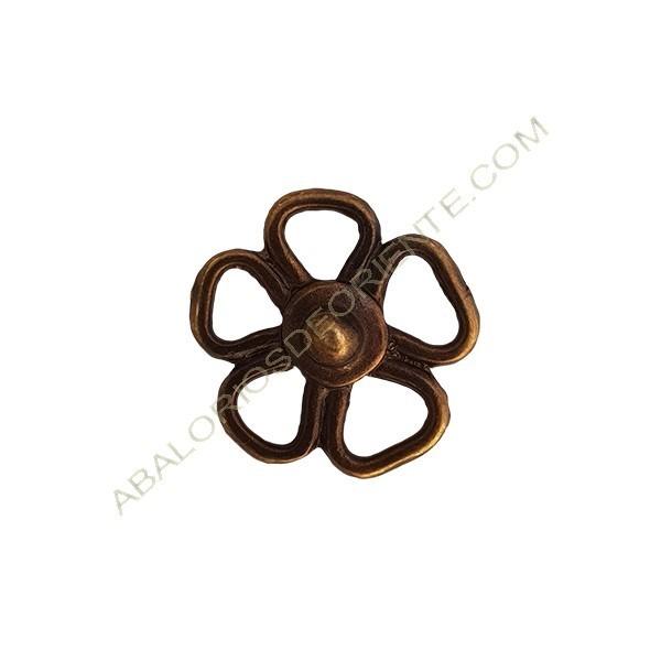 Colgante aleación de Zinc flor 18 x 16 mm bronce