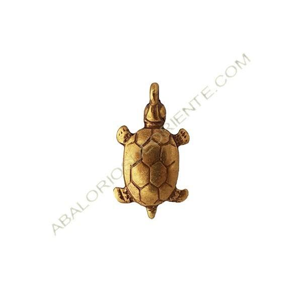 Colgante de aleación de Zinc tortuga 32 x 23 mm bronce