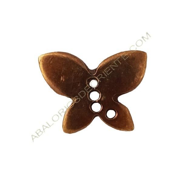 Colgante aleación de Zinc mariposa 28 x 30 mm bronce