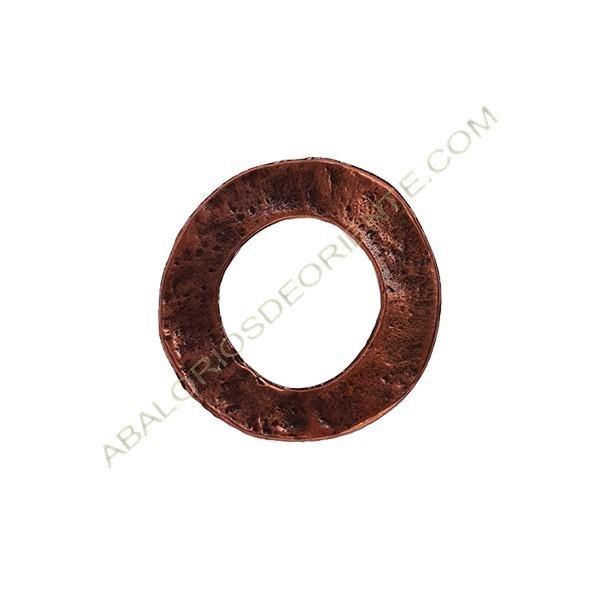 Colgante aleación de Zinc aro 32 mm cobre