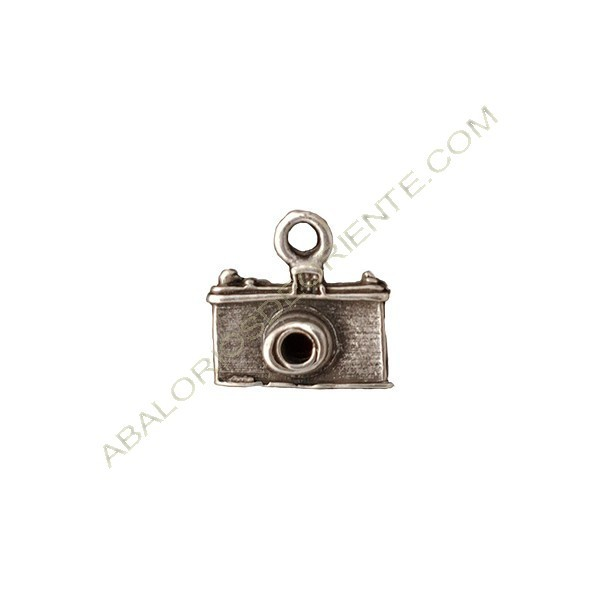 Colgante aleación de Zinc cámara 16 x 17 mm plateado