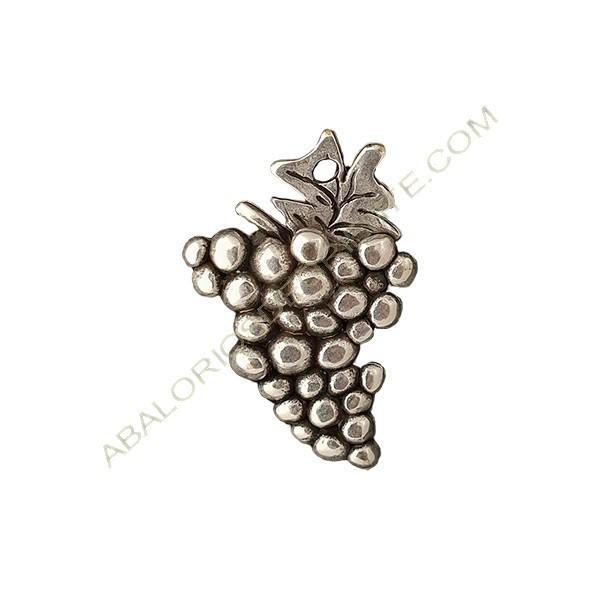 Colgante aleación de Zinc uvas 35 x 23 mm plateado