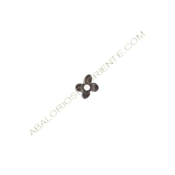 Colgante de aleación de flor Zinc 9 x 11 mm plateado