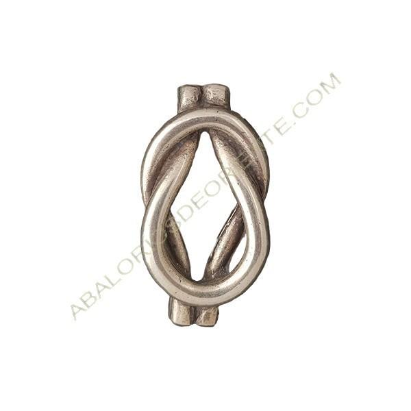 Entrepieza aleación zinc nudo 50 x 26 mm plateado