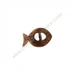 Entrepieza de aleación de zinc pez 27 x 17 mm bronce