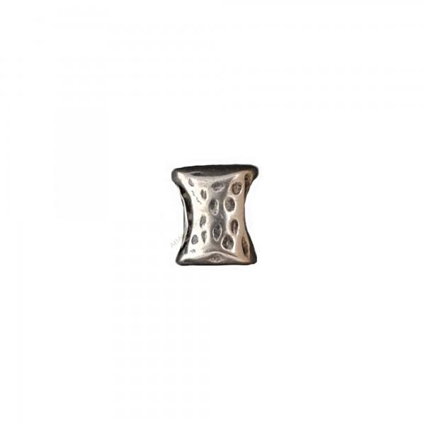 Pasador de aleación de zinc pajarita 15 x 12 mm plateada