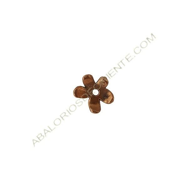 Colgante de aleación de zinc flor 12 x 13 mm bronce