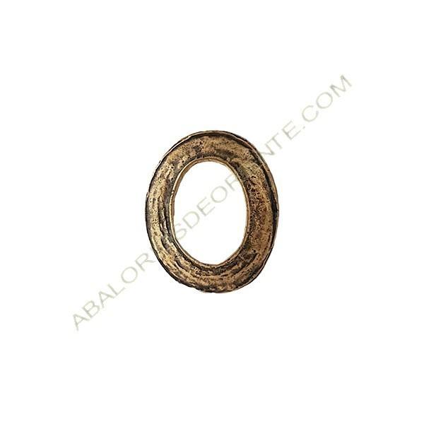 Colgante de aleación de zinc ovalado 40 x 34 mm bronce