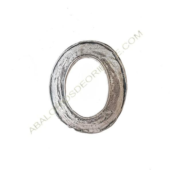Colgante aleación de zinc ovalado 40 x 34 mm plateado
