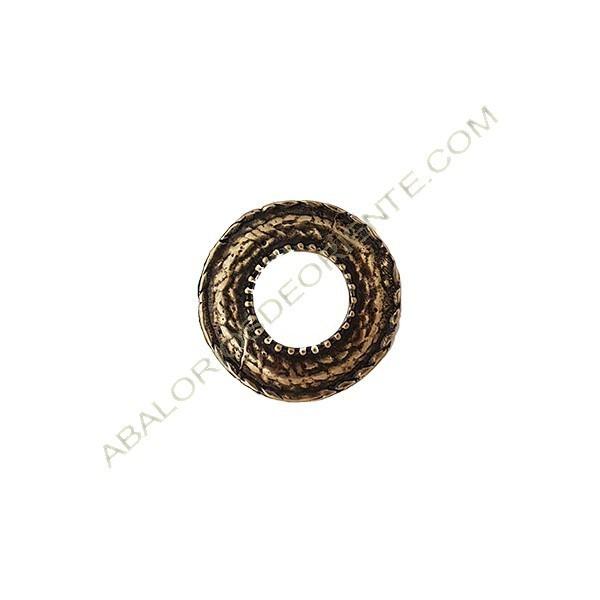 Aro conector de aleación de Zinc redondo 32 mm bronce