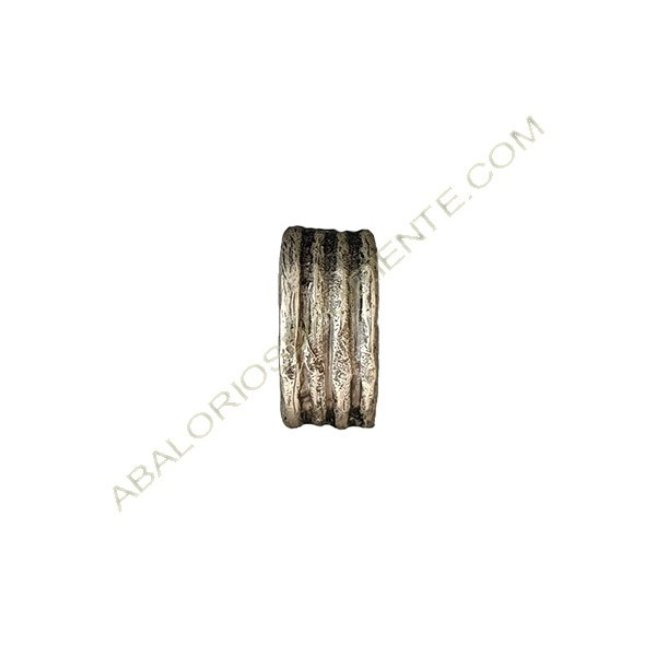 Colgante de aleación de zinc tubo 25 x 12 mm plateado