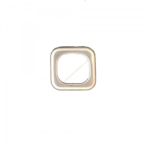 Entrepieza de metal arandela cuadrada 28 x 28 mm plateada