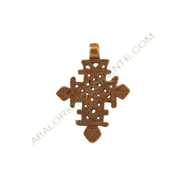 Cruz copta de bronce 54 x 39 x 9 mm