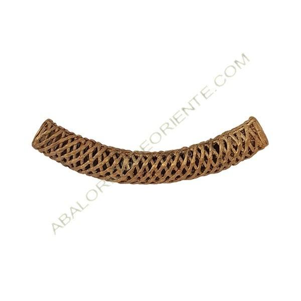 Tubo curvo de bronce rejilla 97 x 13 x 13 mm