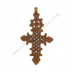 Cruz Copta de bronce. 92 x 53 x 10 mm