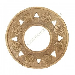 Colgante de bronce 23 redondo 82 mm
