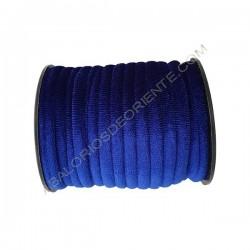 Cinta de terciopelo redondo azul noche de 6 mm