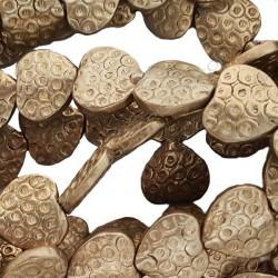 Entrepieza de bronce corazón 12 x 12 x 3,5 mm