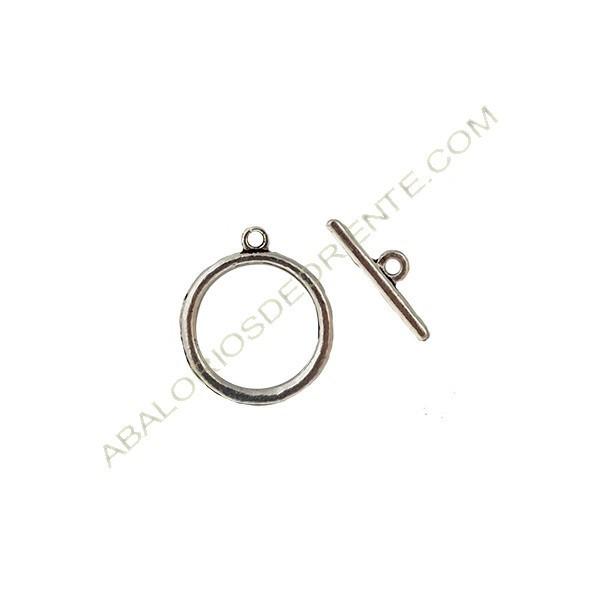 Cierre de aleación de Zinc dos partes círculo y bastón plateado