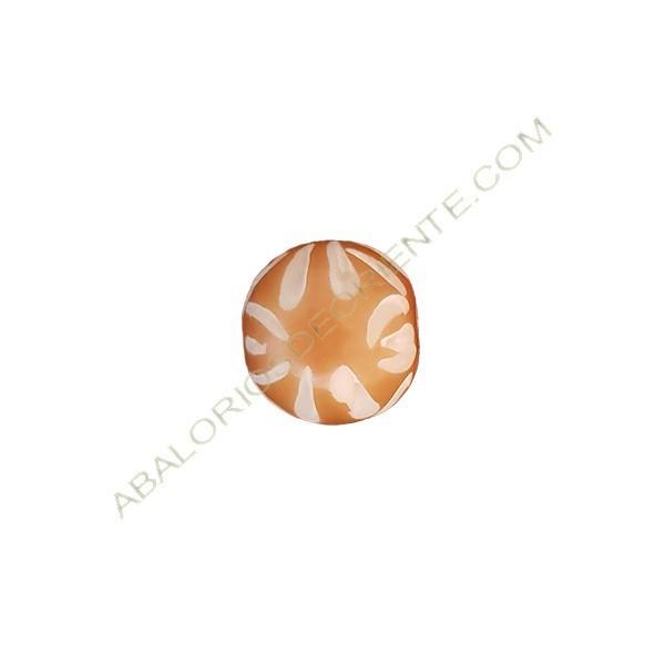 Bola de asta de cuerno 12 x 13 mm beige