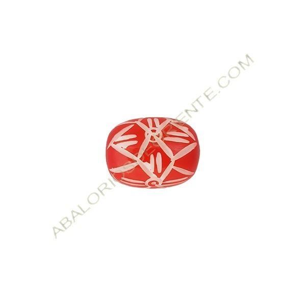 Barril de asta de cuerno 14 x 19 mm rojo