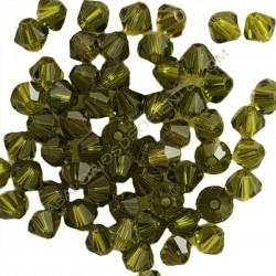 Tupi 4 mm Swarovski olivine
