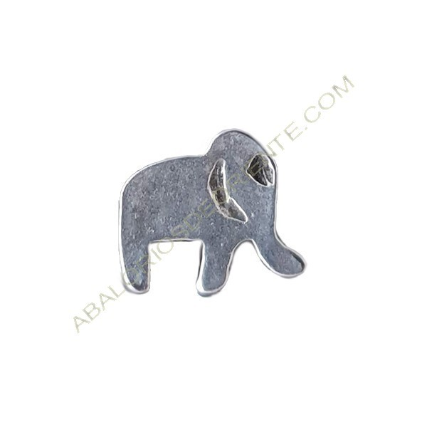 Entrepieza de Zamak elefante 11 x 12 mm plateado