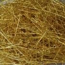 Bolsa de 10 bastones para pendiente con argolla 41 x 0,8 mm color dorado