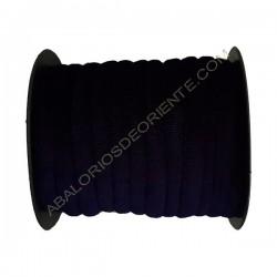 Cinta de terciopelo redondo azul marino de 6 mm