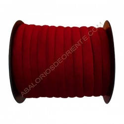Cinta de terciopelo redondo vino de 6 mm