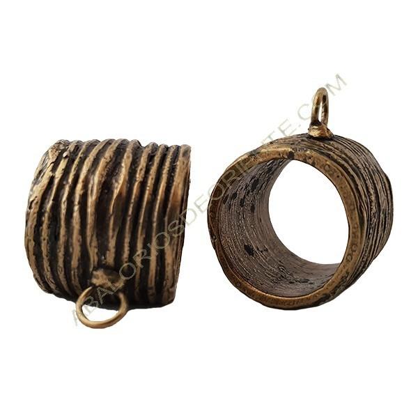 Entrepieza de aleación de Zinc tubo con anilla 36 x 22 mm bronce