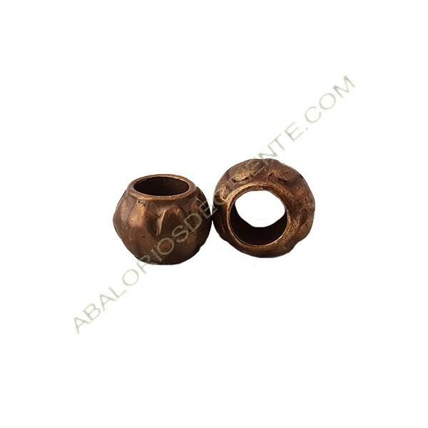 Entrepieza aleación de Zinc tonel 7 x 11 mm bronce