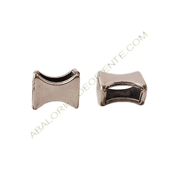 Pasador de metal pajarita de 8 x 9 mm plateado