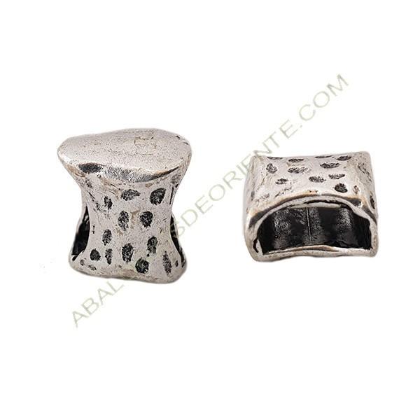 Pasador de aleación de Zinc pajarita 12 x 15 mm plateada