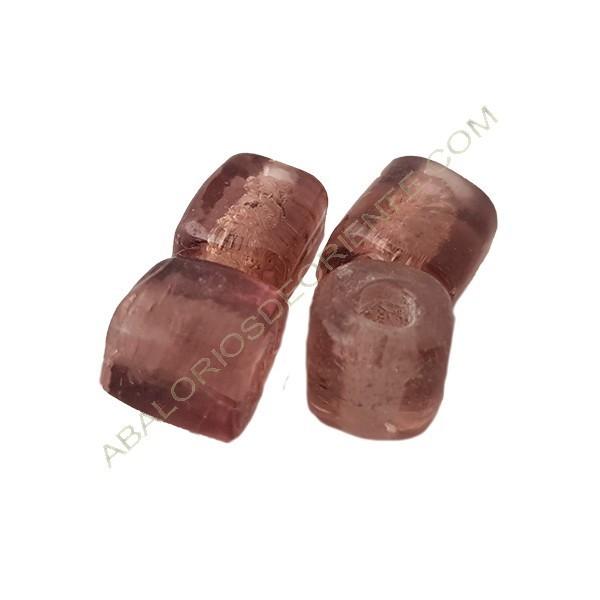 Tubo corto indio 10 mm rosa