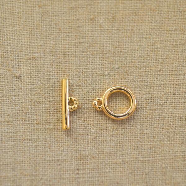 Cierre dos partes de aleación de Zinc chapado en oro de 24 K