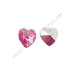 Corazón Swarovski 10 mm rose