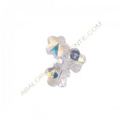 Flor Swarovski 6 mm Crystal AB