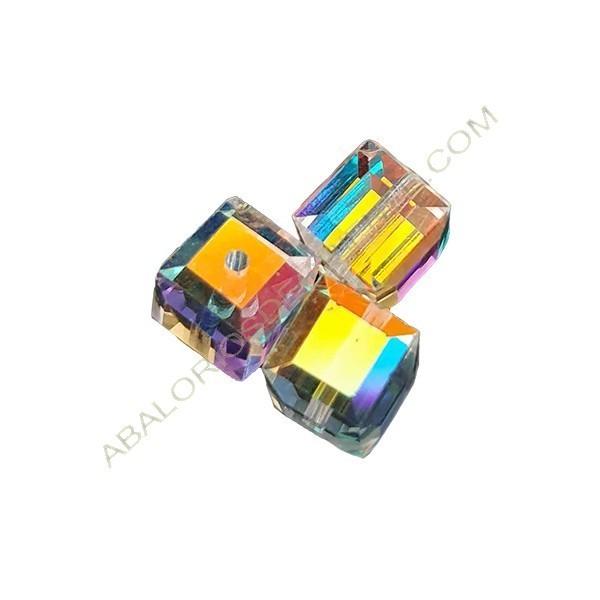 Cubo de Swarovski 6 mm Crystal AB