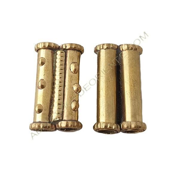 Entrepieza de bronce tubo doble