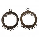 Base redonda para pendiente o colgante 43 x 35 mm bronce