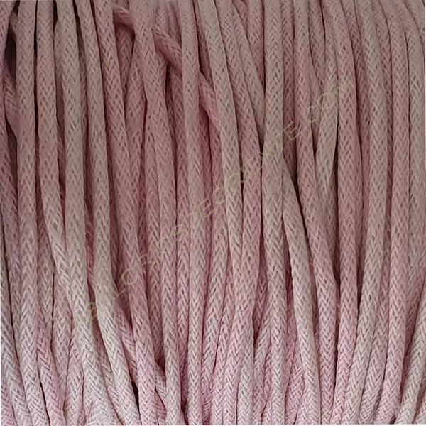 Algodón encerado mate 1,5 mm rosa