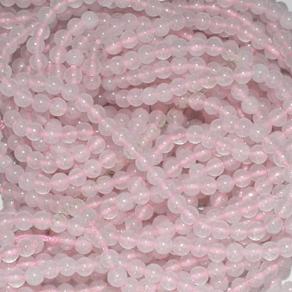 Cuarzo rosa claro bola 4 mm